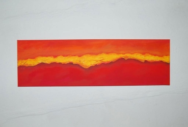Wandbild Orange