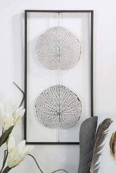 wand deko leafs metall. Black Bedroom Furniture Sets. Home Design Ideas