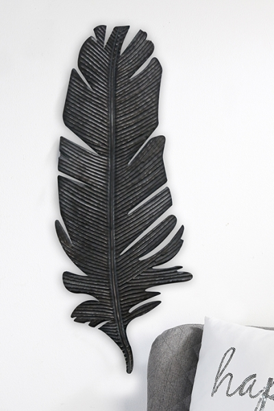 wanddeko feder metall. Black Bedroom Furniture Sets. Home Design Ideas